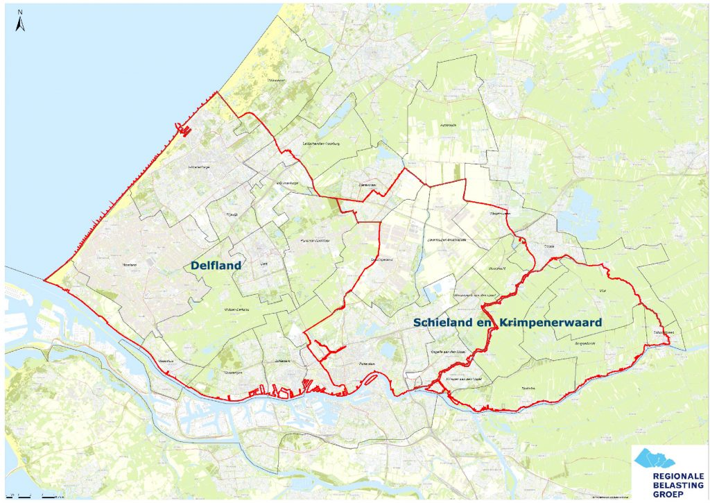 map of Schieland Krimpenerwaard and Delfland